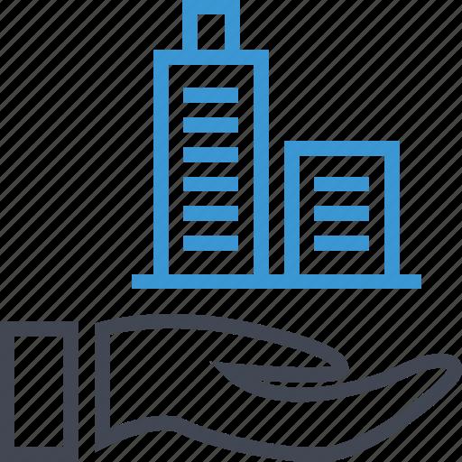 online, skyscraper, tower icon