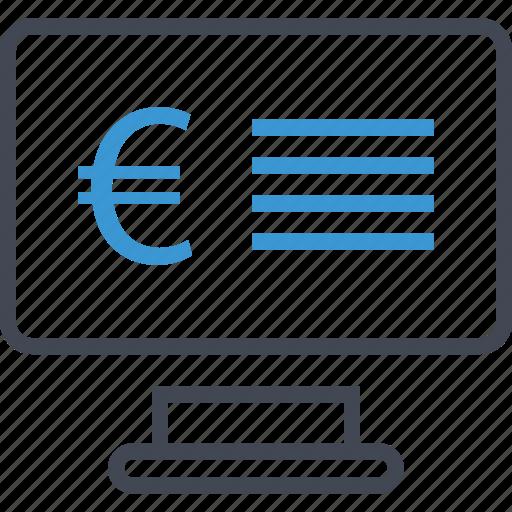 computer, money, website icon