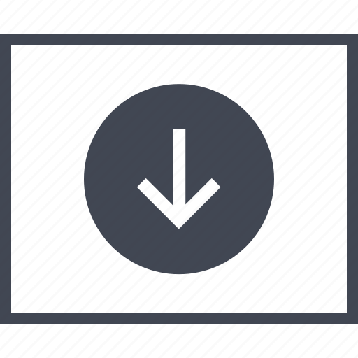 arrow, down, download, point, pointer, wireframes icon