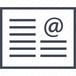 at, email, mail, page, sign, web, wireframes icon