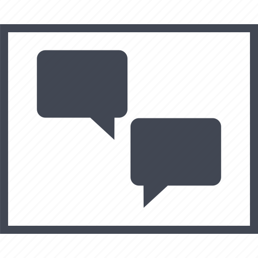 Bubble, chat, conversation, sms, wireframes icon - Download on Iconfinder