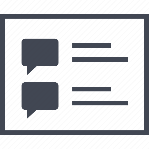 bubble, chat, conversation, list, sms, talk icon