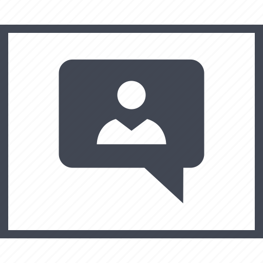 chat, friend, person, profile, sms, talk, wireframe icon