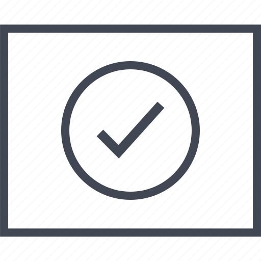 Check, good, mark, ok, wireframe icon - Download on Iconfinder