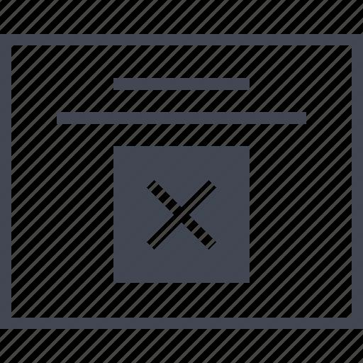 delee, denied, error, wireframes, x icon
