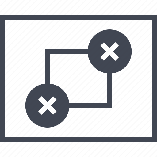 connected, connection, error, failes, wireframe icon