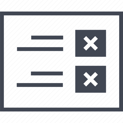 error, list, page, view, wireframe icon