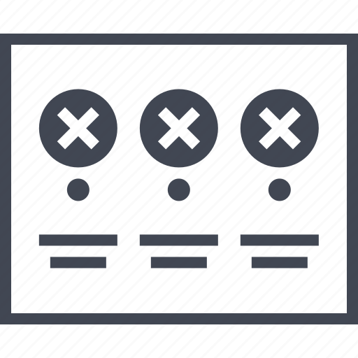error, form, layout, page, results, wireframes icon