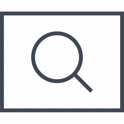 find, glass, look, magnifying, search, wireframe icon