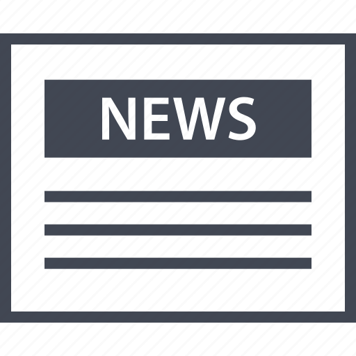 news, newsletter, online, page, web, wireframe icon
