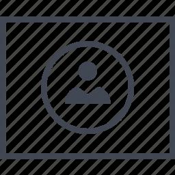 page, person, profile, user, web, wireframes icon