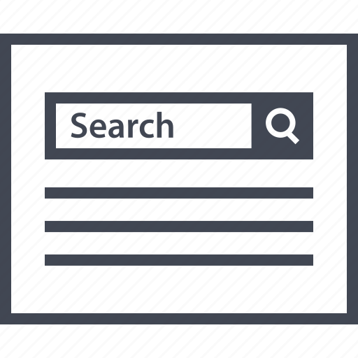 Look, search, bar, find, wireframes icon