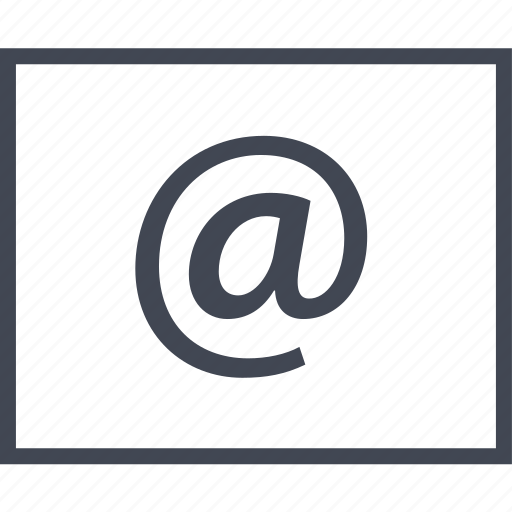 Wireframe, us, sign, contact, at, mail, email icon