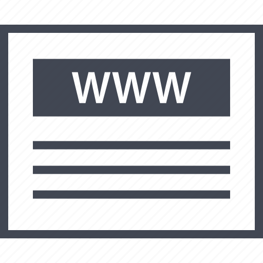 Website, web, www, visit, us, wireframes icon