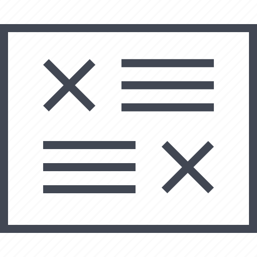 Cross, delete, denied, error, page, wireframes, x icon - Download on Iconfinder