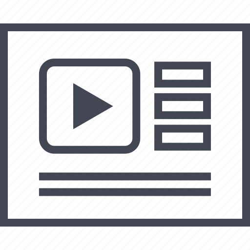 Layout, list, wireframe, youtube, page, view icon