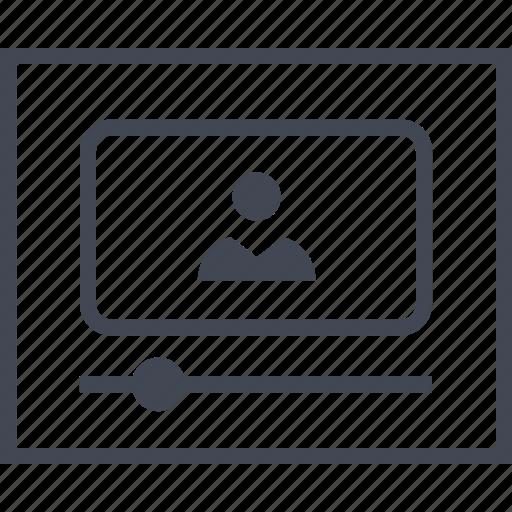 Play, media, youtube, video, progress, wireframes icon