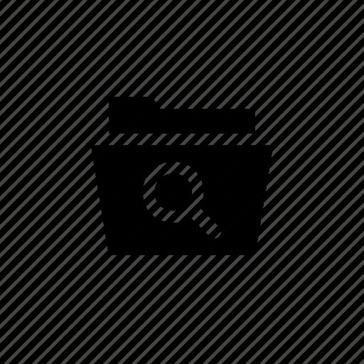 document, folder, open, search icon