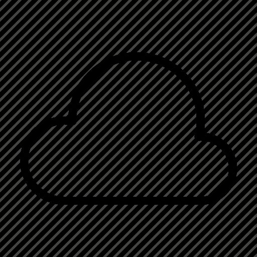 cloud, computer, interface, program, user icon
