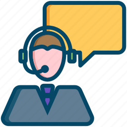 call, help, helpdesk, information, operator, service, support icon