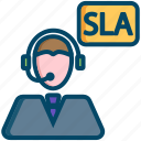 business, help, help desk, helpdesk, operator, sla, support icon
