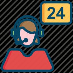 avatar, operator, support icon
