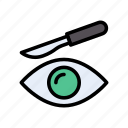 blade, eye, lens, operation, tools icon