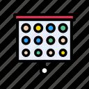 board, checkup, eyesight, ophthalmology, optics icon