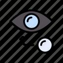 eye, eyeball, healthcare, lens, retina icon