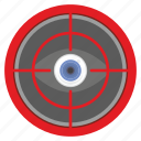 aim, eye, eyesight, target icon
