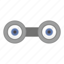 binocular, eye, eyesight, view icon