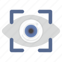 biometry, data, detect, eye, eyesight icon