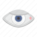 eye, eyesight, man, pupil icon
