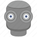 eye, eyesight, head, robot icon