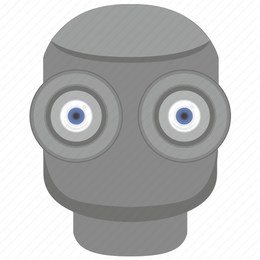 eye, eyesight, head, robot icon