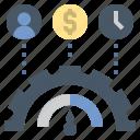 efficiency, indicator, management, optimization, performance icon
