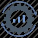 business, management, optimization, performance, process icon