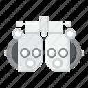 phoropter, medical, vision, gear