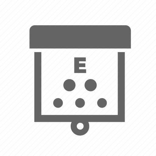 eye, sight, spreadsheet, table, test, view, vision icon