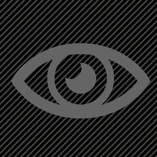 eye, gaze, glance, optic, stare, view, vision icon