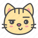 cat, cute, face, kitten, pet, smirk icon