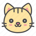 cat, cute, face, kitten, pet, smile icon