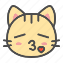 cat, cute, face, kiss, kitten, pet icon