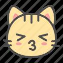 cat, cute, face, kiss, kitten, pet