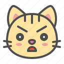 angry, cat, cute, face, kitten, pet icon