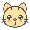 cat, cute, face, kitten, pet, whistling icon
