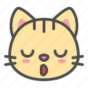 cat, cute, face, kitten, pet, sleepy icon