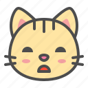 bored, cat, cute, face, kitten, pet icon