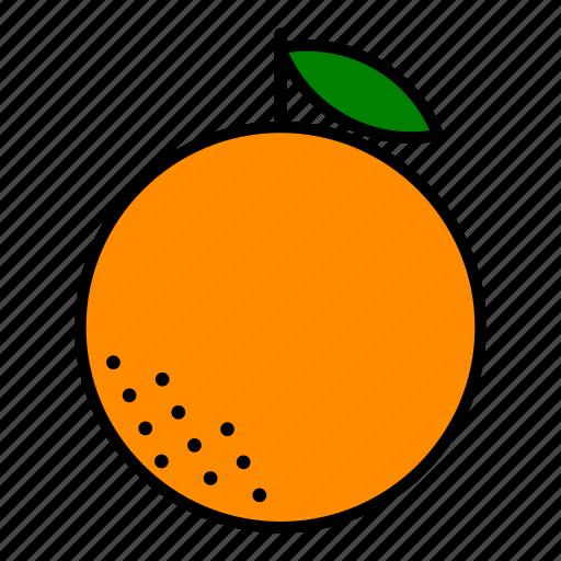food, fruit, healthy, orange icon