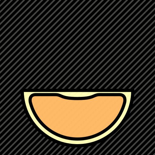 food, fruit, half, healthy, orange slice icon
